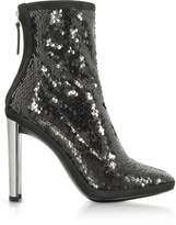 Giuseppe Zanotti Luce Black Sequined High Heel Ankle Bootie