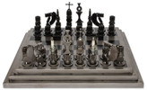 Novica Artisan Crafted Upcycled Car Parts Chess Set