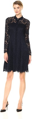 London Times Anastasia Fit & Flare Navy