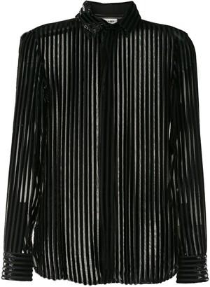 Saint Laurent Semi-Sheer Striped Shirt