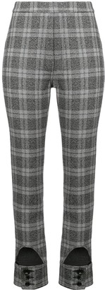 Ellery Checked High Waist Trousers