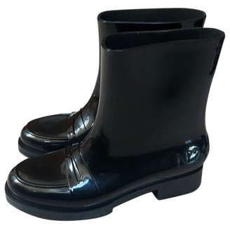 Kartell Black Rubber Ankle boots