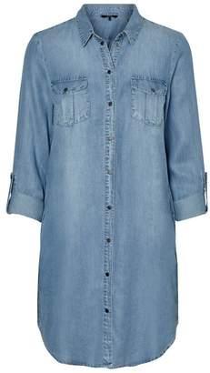 Vero Moda Denim Shirt Dress - extra small | 100% Lyocell | denim blue