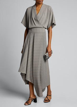 The Row Talisa Crepe Asymmetric Dress