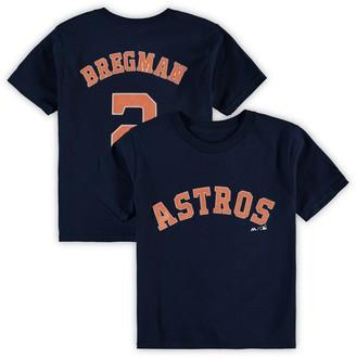 Majestic Preschool Alex Bregman Navy Houston Astros Name & Number T-Shirt