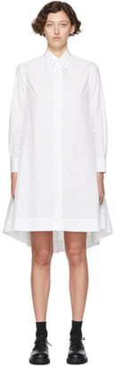 Yohji Yamamoto Regulation White R-Flare Shirt Dress