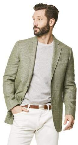 Todd Snyder White Label Wool/Linen Basketweave Sport Coat in Olive