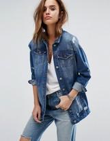 Noisy May Angie Girlfriend Denim Jacket