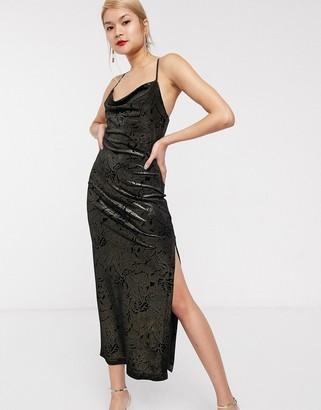 Palones Lisa Cami Dress in Black & Gold