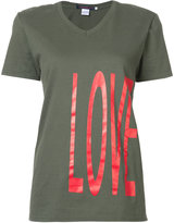 Harvey Faircloth - love print T-shirt - women - Cotton - S