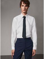 Burberry Modern Fit Pin Dot Dobby Cotton Shirt , Size: 15.75, White