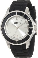 Versus By Versace Versus Men's AL13LBQ802A009 Tokyo Silver Dial Black Rubber Watch