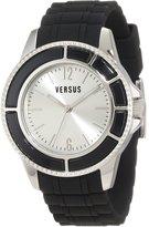 Versus By Versace Women's AL13LBQ802A009 Tokyo Silver Dial Black Rubber Watch