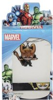 Marvel Comics Avengers Loki Bobble Head Stainless Steel Necklace / Pendant & Rubber Bracelet Set
