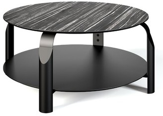 Temahome Scale Coffee Table Color: Ebony / Ivory / Black