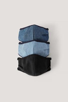 NA-KD 3-Pack Denim Face Masks