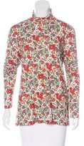 Sonia Rykiel Floral Print Turtleneck Top