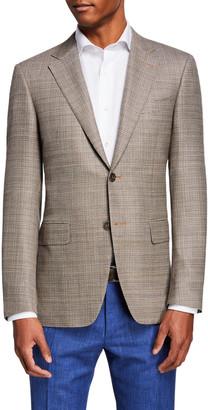 Canali Men's Wool Hopsack Sport Coat Jacket