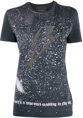 John Richmond beaded lightning bolt T-shirt