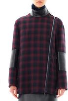 3.1 Phillip Lim Shearling-collar plaid coat