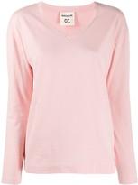 Semi-Couture Semicouture v-neck cotton T-shirt