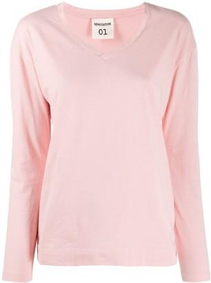 Semi-Couture v-neck cotton T-shirt