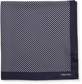 Tom Ford Men's Polka Dot Cotton Pocket Square