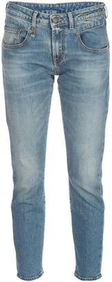 R 13 Jasper low rise cropped jeans