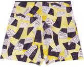 Equipment Lewis printed silk shorts