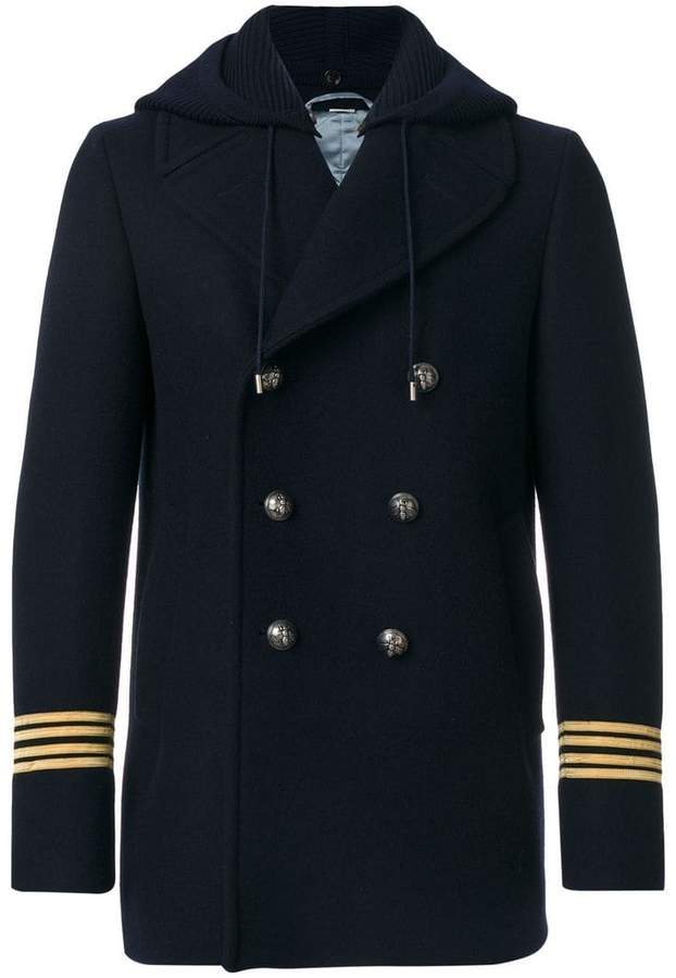 Gucci Dragon emroidered peacoat