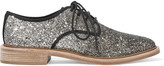 Marc by Marc Jacobs Glittered canvas brogues