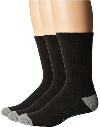 Columbia Crew Athletic Socks 3-Pack (Black) Men's Crew Cut Socks Shoes