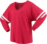 Unbranded Women's Red Wisconsin Badgers Pom Pom V-Neck Long Sleeve T-Shirt