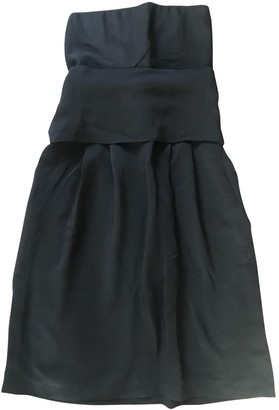Les Prairies de Paris Black Silk Dress for Women