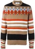 MSGM multi print oversized jumper - men - Polyamide/Wool - XS