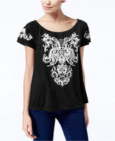 INC International Concepts Embroidered Off-The-Shoulder Top, Created for Macy's