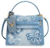 Valentino Small My Rockstud Denim Satchel - Blue