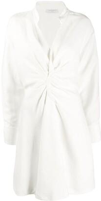 Sandro Gathered Detail Shirt Dress