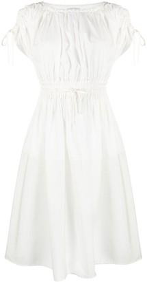 Moncler Drawstring Waist Poplin Dress
