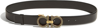 Salvatore Ferragamo Chain Double-Gancini Leather Belt