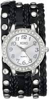 XOXO Women's XO5636 Black Braided Wrap Watch