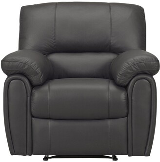 Leighton Leather/Faux Leather Power Recliner Armchair