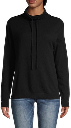 Amicale Drawstring Funnelneck Cashmere Sweater