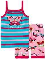 Hatley Electric Butterflies PJ Set (Toddler/Kid) - Pink - 3T