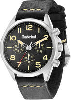 Timberland Men's Barlett Black Leather Strap Watch 44x49mm TBL14844JS02