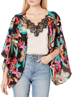 Trina Turk Women's Exquisite Papillion Palm Shrug Jacket