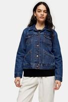 Wrangler Womens Denim Jacket By Mid Stone