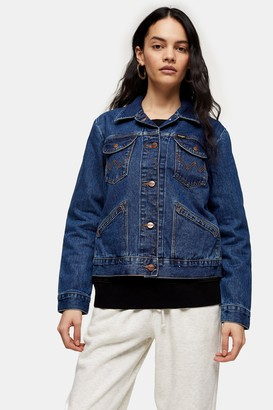 Wrangler Womens Denim Jacket By Mid Stone