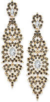 INC International Concepts Crystal Filigree Drop Earrings, Created for Macy's