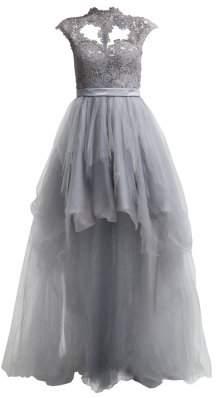 Unique Mirabel Grey Gown